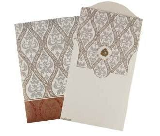 elegant white  maroon floral design ganesha card
