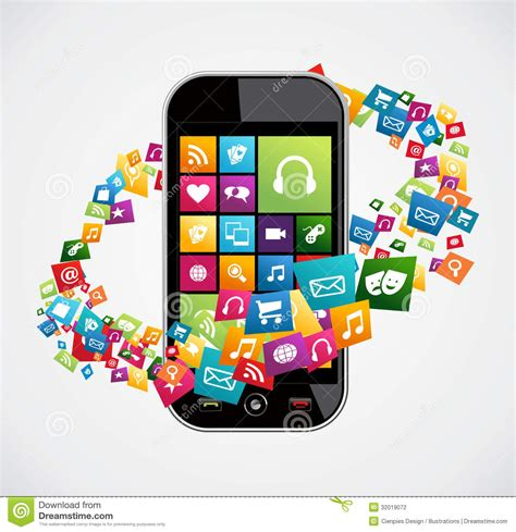 smartphone mobile applications stock photography image