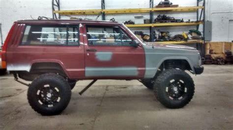 lifted jeep 2 door 1986 jeep cherokee 2 door lifted v8 conversion project