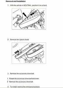 How To Install Ford Focus Serpentine Belt