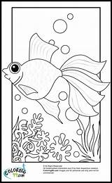 Goldfish Coloring Pages Fish Printable Print Gold Cartoon Colors Getcoloringpages Teamcolors sketch template