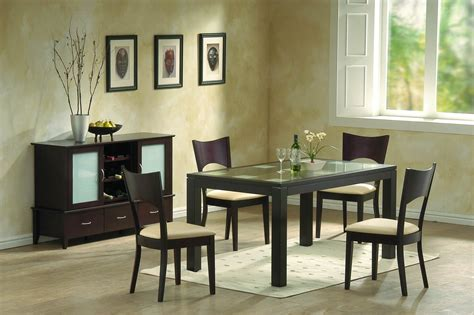 modern dining room furniture frosted glass and chocolate