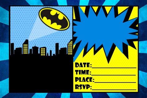 size batman birthday invitation printable