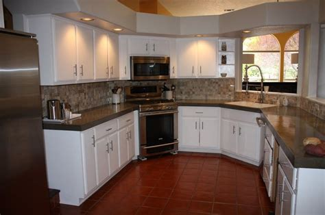 provincial kitchen cabinets install of concrete countertops kitchen remodel 3647
