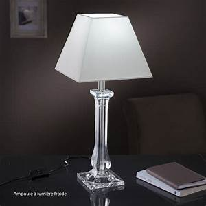 Pied De Lampe : pied de lampe fantasy acrylique transparent 39 cm leroy merlin ~ Teatrodelosmanantiales.com Idées de Décoration