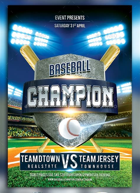 baseball flyer    vector eps psd