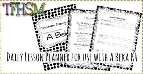 free daily lesson planner for use with abeka k 4 774 | A Beka Lesson Planning Sheets Schedule and Planner