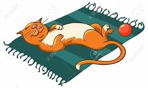 Feline clipart mat - Pencil and in color feline clipart mat
