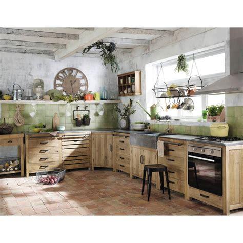 cuisine nature meuble de cuisine maison du monde
