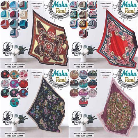 jual grosir kerudung segi empat motif maharani umama hijab jilbab  lapak leon village leonvillage