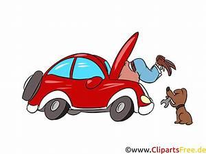 Auto selbst reparieren Bild, Illustration, Clipart, Cartoon gratis  Clipart