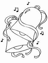 Coloring Disegni Natale Campane Colorare Bells Coloriage Noel Printable Kolorowanki Ornament Colorear Disegno Dzwonki Bambini Jingle Template Campanas Dibujos Stampa sketch template