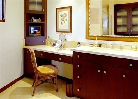 Bathroom Vanities With Makeup Area by Vanity Makeup Area Modern Bathroom Los Angeles By