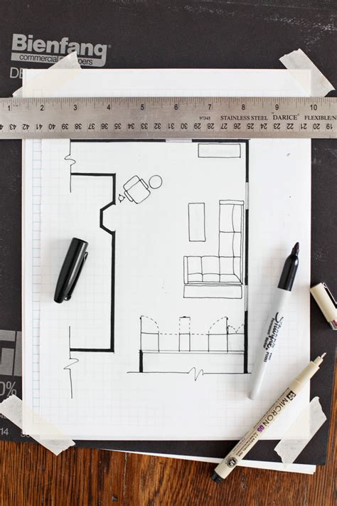 draw  floor plan  beautiful mess