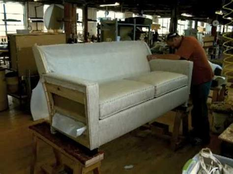 settee manufacturers timelapse lean manufacturing at hallagan furniture