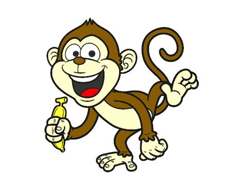 desenho de macaco prego pintado e colorido por glni o dia 15 de julho do 2014