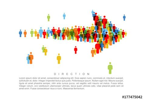 Direction People Icon Arrow Infographic. Buy This Stock