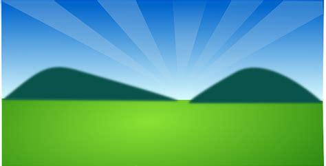 vector graphic landscape scenery green grass