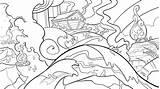 Flood Colouring Lines Noah sketch template