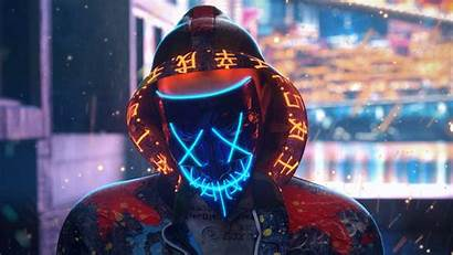 Mask Wallpapers Guy Cave Neon