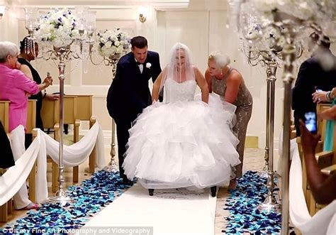 Paraplegic bride Tami Martin Dietrich WALKS down the aisle on her wedding day   Daily Mail Online