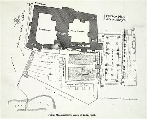 Haddon Hall Plan Of Gardens Collection A D White