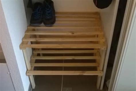 fabriquer un meuble a chaussures facile voici comment faire rapidement un petit meuble pour ranger les chaussures