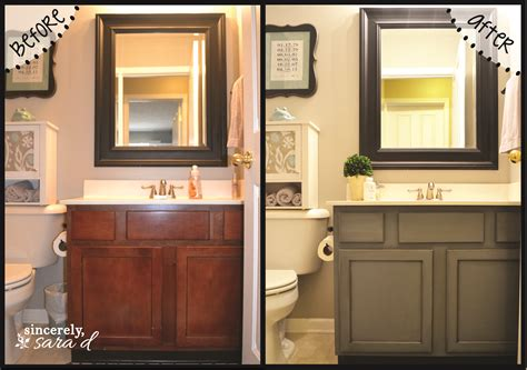 painted bathroom cabinets before and after paint cabinet newsonair org