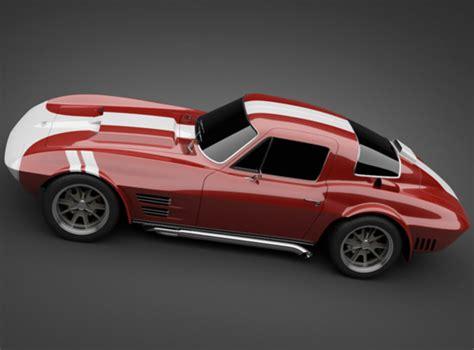 Models Sports Car by 1965 Grandsport Corvette Sports Car 3d Model Max Obj