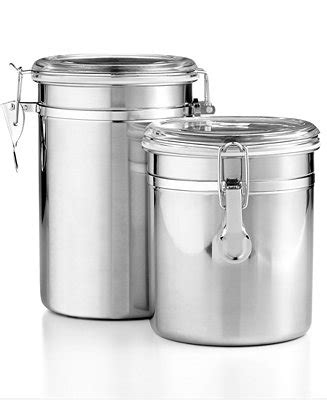 kitchen storage containers shopping martha stewart collection set of 2 food storage canisters 8619