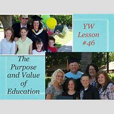 Yw Lds Lesson #46 Education