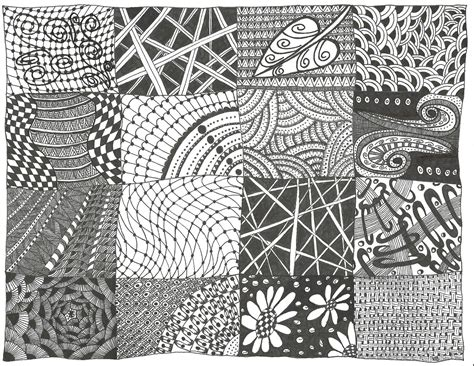 zentangle patterns zendoodle printable simple sampler parchment easy pattern zen zentangles craft things print doodle tangle drawings three drawing google