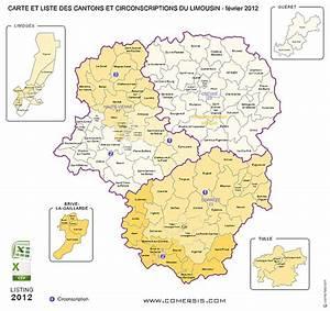 Liste Des Villes Du Nord : carte des anciens cantons du limousin ~ Medecine-chirurgie-esthetiques.com Avis de Voitures