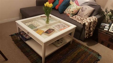A smaller wooden accent table can give your room a very traditional look, depending on which model you pick. Ikea White Glass Coffee Table   in St Albans, Hertfordshire   Gumtree