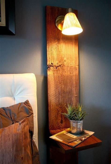 floating nightstands  bedside lamp save space