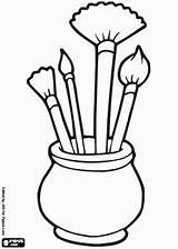 Clipart Easel Artist Kleurplaat Clipartmag Met Een Stencils sketch template