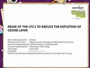 Reuse Of The Cfc U2019s To Reduce The Depletion Of Ozone Layer