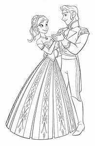 Walt Disney Coloring Pages - Princess Anna & Prince Hans ...