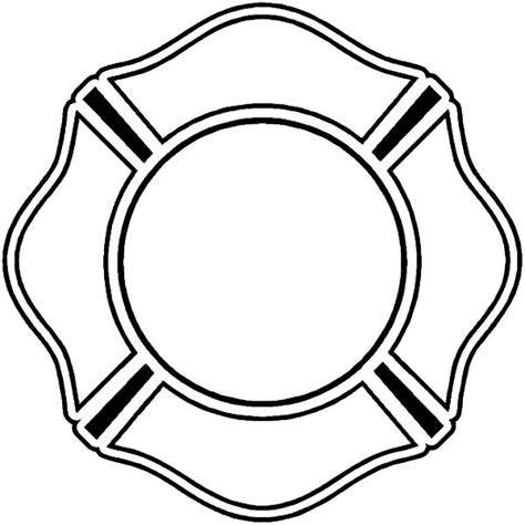 23 Firefighter Badge Coloring Page Free Pages Of