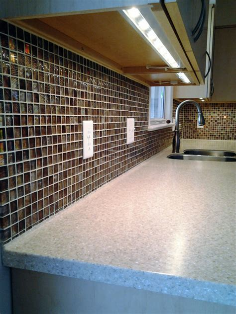 Solid Surface Tile Ready Back splash   Contemporary