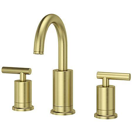 brushed gold bathroom faucet brushed gold contempra widespread bath faucet lg49 nc1bg
