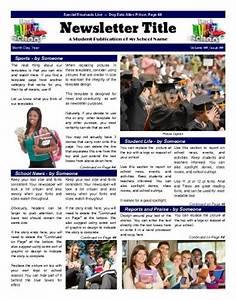 school front page template that emphasizes various areas With student newsletter templates free