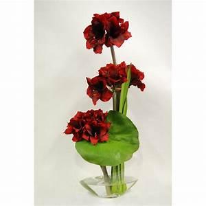fleurs d39amaryllis artificiels de qualite signees emilio robba With chambre bébé design avec livraison fleurs artificielles deuil