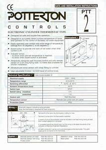 Installing And Wiring A Potterton Ptt2 Cylinder Thermostat