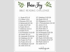 Bible Reading Plan for January 2018 RachelWojocom