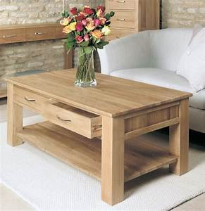 Buy Baumhaus Mobel Oak 4 Drawer Storage Coffee Table