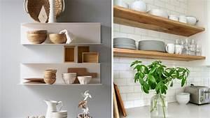 les etageres ouvertes dans la cuisine pour ou contre With etagere de cuisine en bois