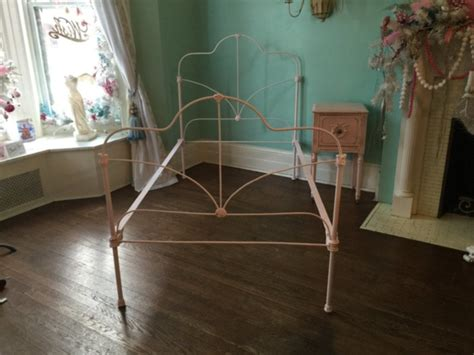 Shabby Chic Twin Bed Frame Cast Iron Pink Twin Bed Frame