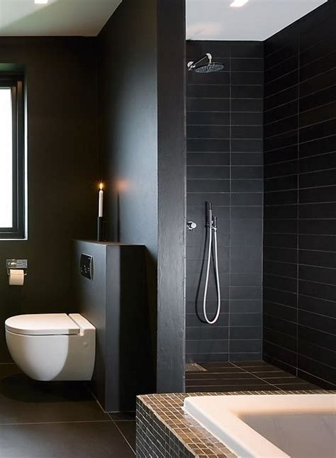 black bathrooms ideas 34 black bathroom tile ideas and pictures