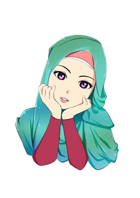 animasi jilbab muslimah